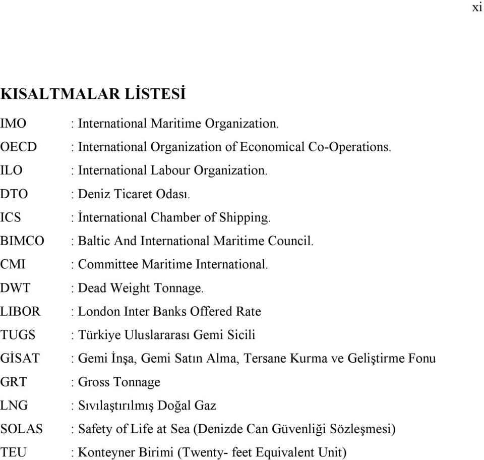 : Baltic And International Maritime Council. : Committee Maritime International. : Dead Weight Tonnage.