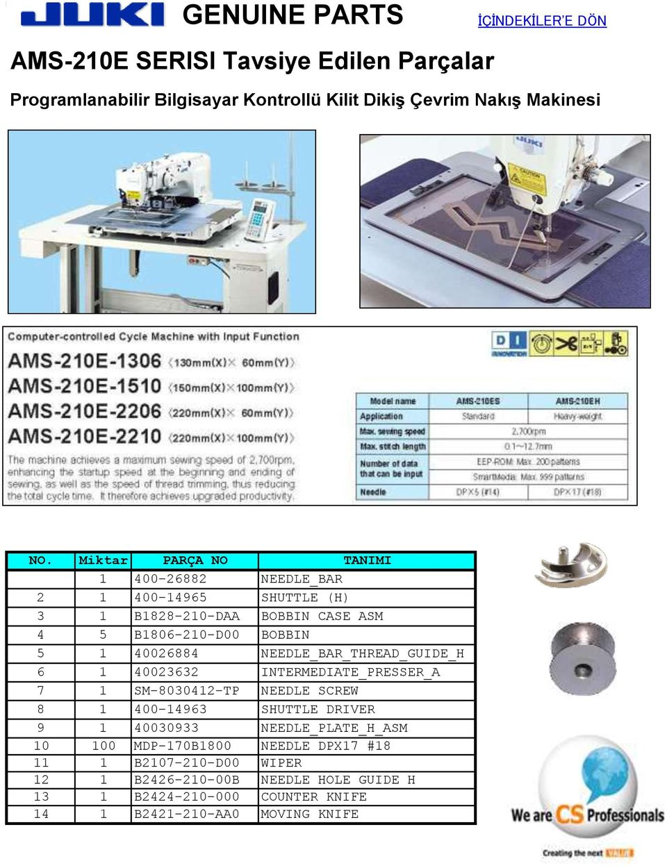 INTERMEDIATE_PRESSER_A 7 1 SM-8030412-TP NEEDLE SCREW 8 1 400-14963 SHUTTLE DRIVER 9 1 40030933 NEEDLE_PLATE_H_ASM 10 100 MDP-170B1800