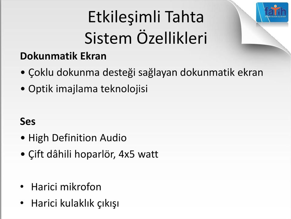teknolojisi Ses High Definition Audio Çift dâhili