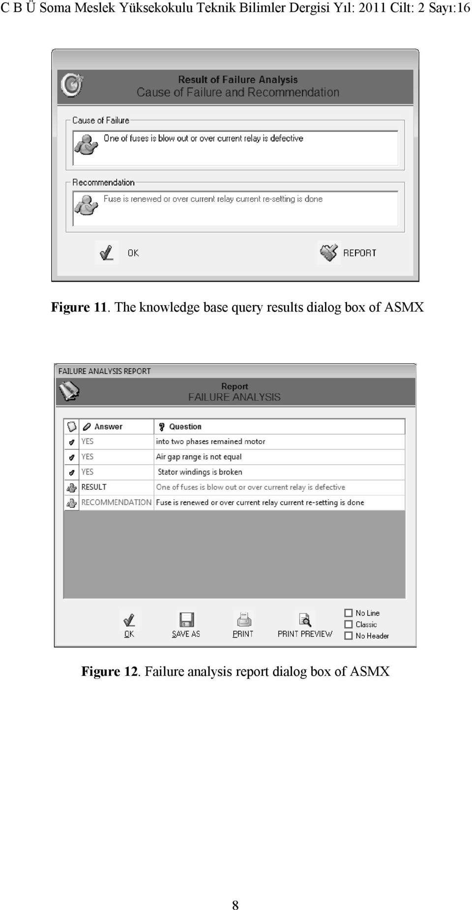 results dialog box of ASMX
