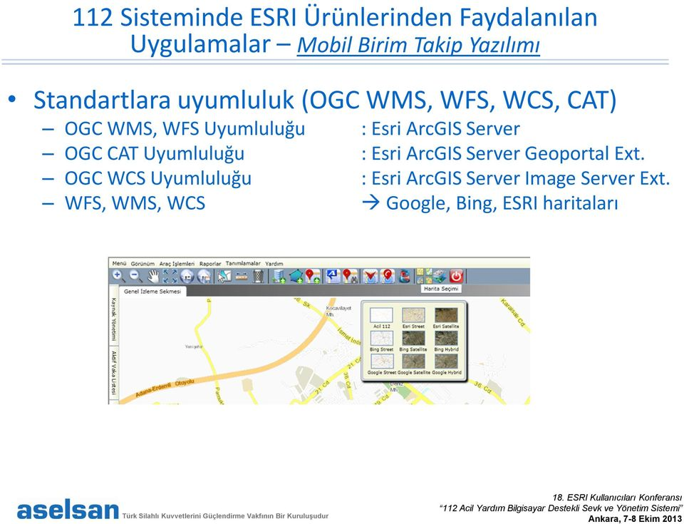 Esri ArcGIS Server OGC CAT Uyumluluğu : Esri ArcGIS Server Geoportal Ext.