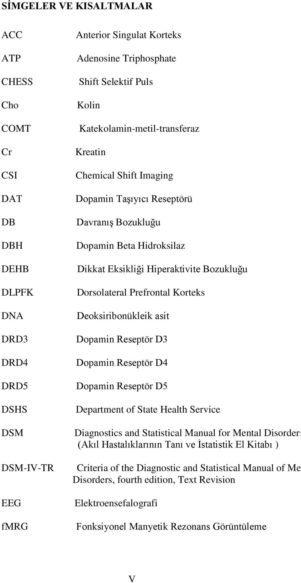 Korteks Deoksiribonükleik asit Dopamin Reseptör D3 Dopamin Reseptör D4 Dopamin Reseptör D5 Department of State Health Service Diagnostics and Statistical Manual for Mental Disorders (Akıl