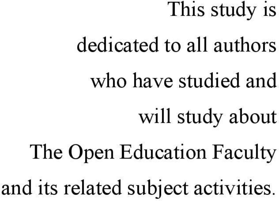 study about The Open Education