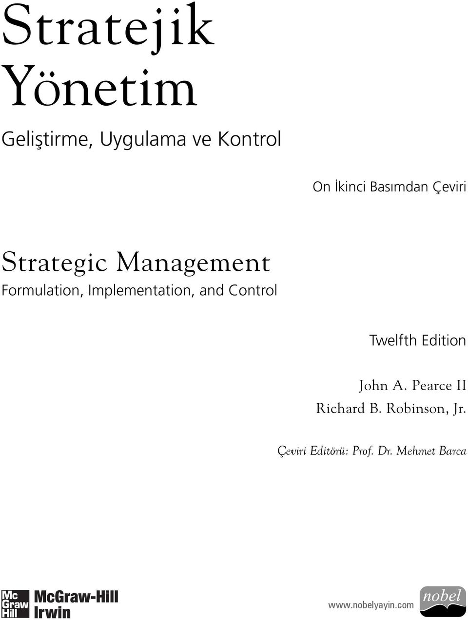 Implementation, and Control Twelfth Edition John A.
