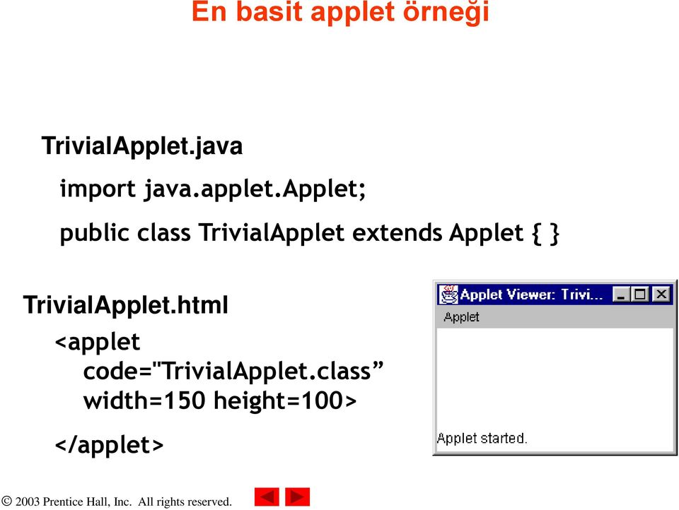 applet; public class TrivialApplet extends Applet { }