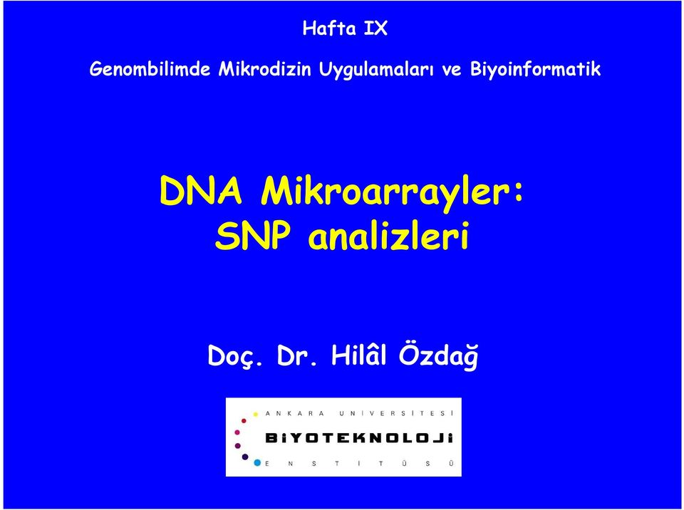 iyoinformatik Analiz DNA