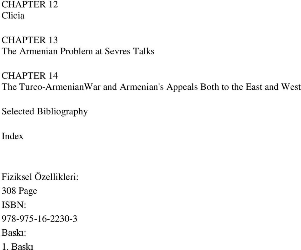 Both to the East and West Selected Bibliography Index