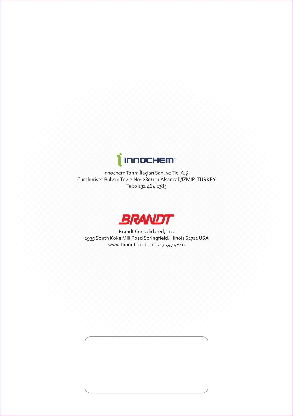 Tel:0 232 464 2385 Brandt Consolidated, Inc.