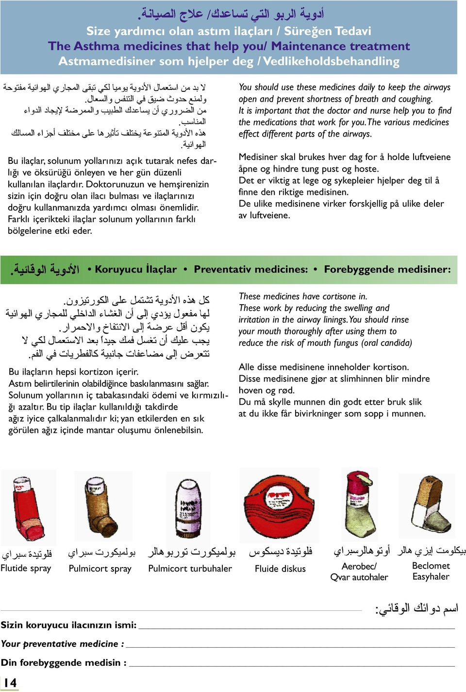 the various medicines effect different parts of the airways. Bu ilaçlar, solunum yollarınızı açık tutarak nefes darlığı ve öksürüğü önleyen ve her gün düzenli kullanılan ilaçlardır.