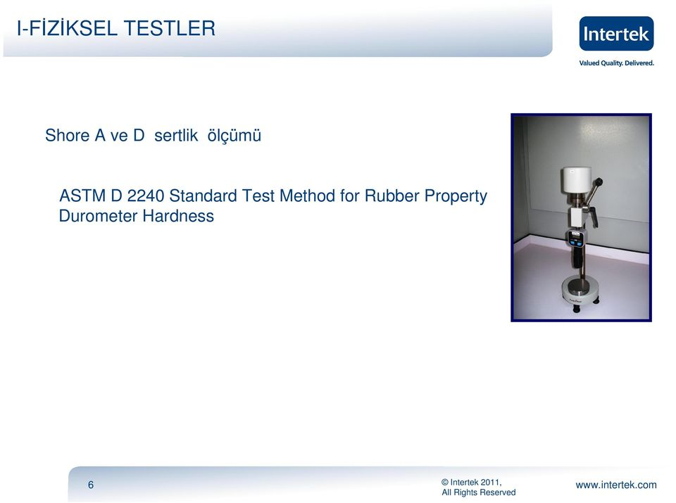 Standard Test Method for Rubber
