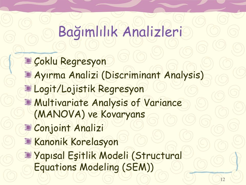 Analysis of Variance (MANOVA) ve Kovaryans Conjoint Analizi