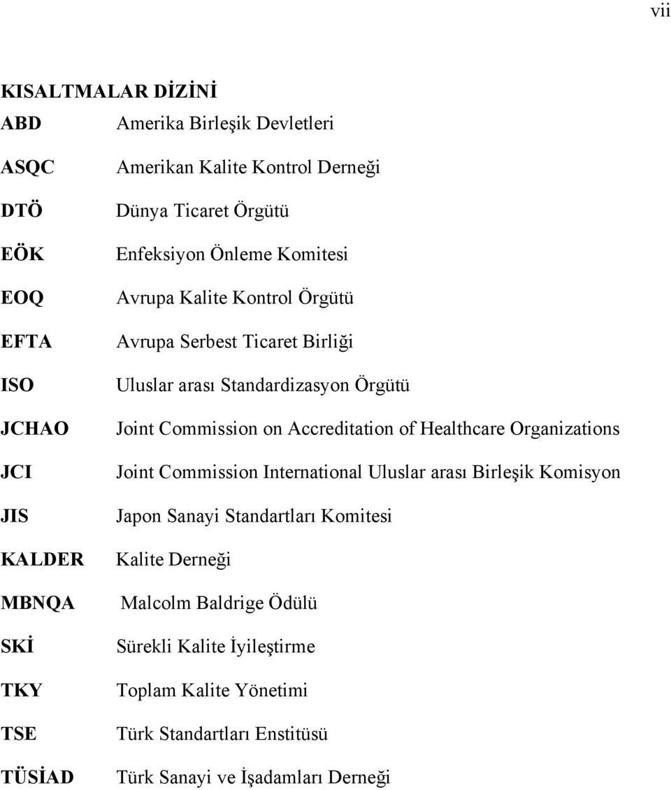 Joint Commission on Accreditation of Healthcare Organizations Joint Commission International Uluslar arası Birleşik Komisyon Japon Sanayi Standartları