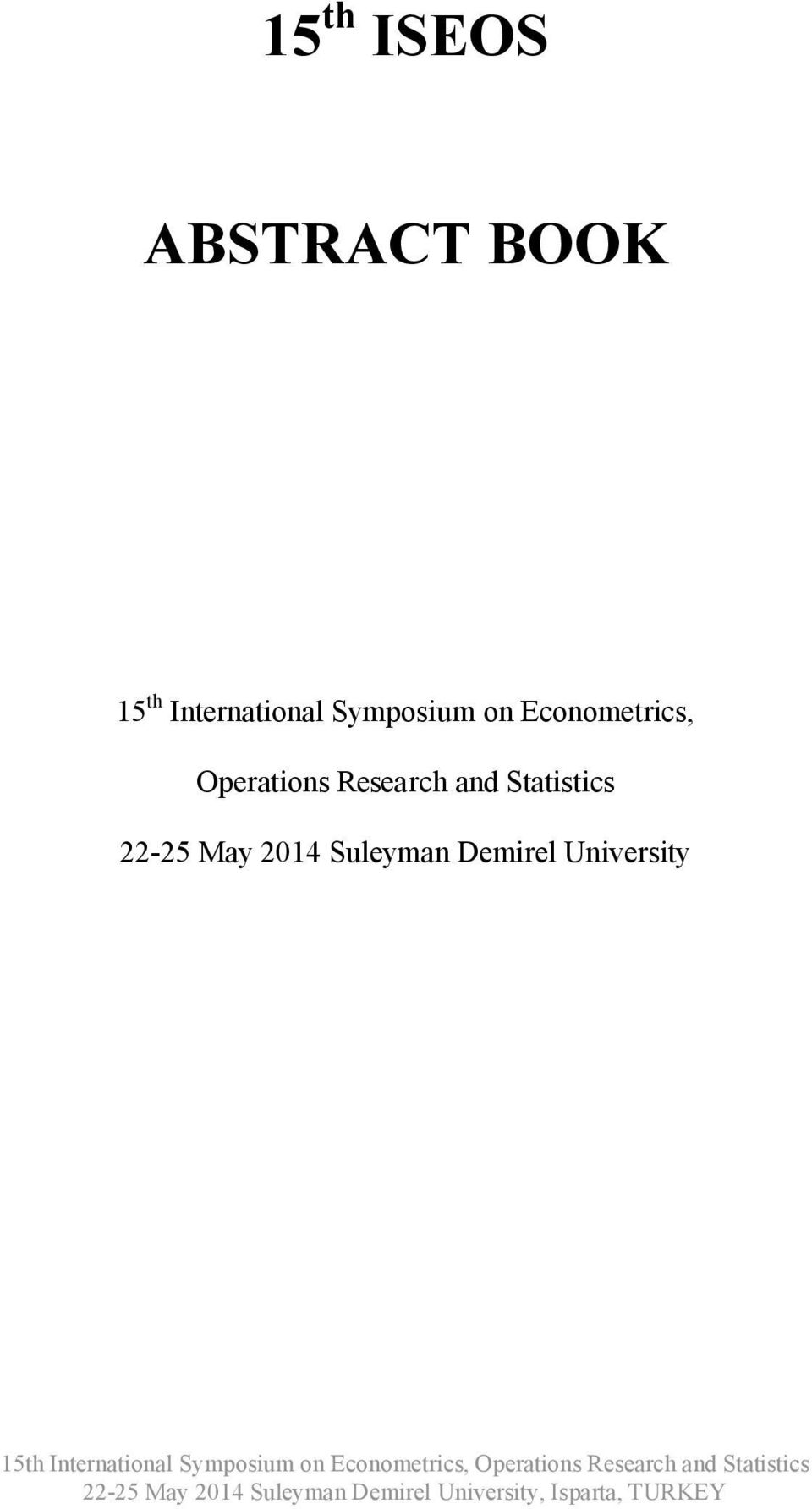 Econometrics, Operations Research and