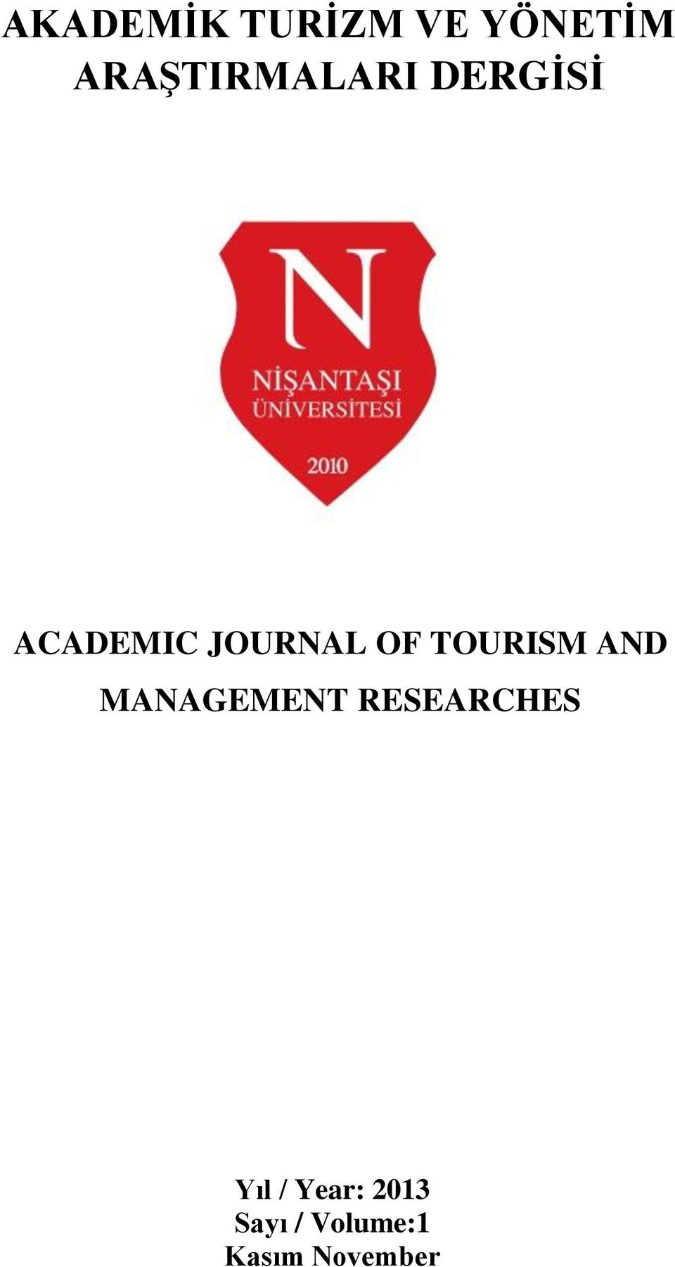 JOURNAL OF TOURISM AND MANAGEMENT
