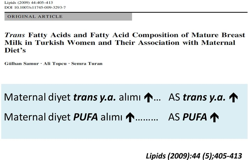 alımı AS PUFA Lipids