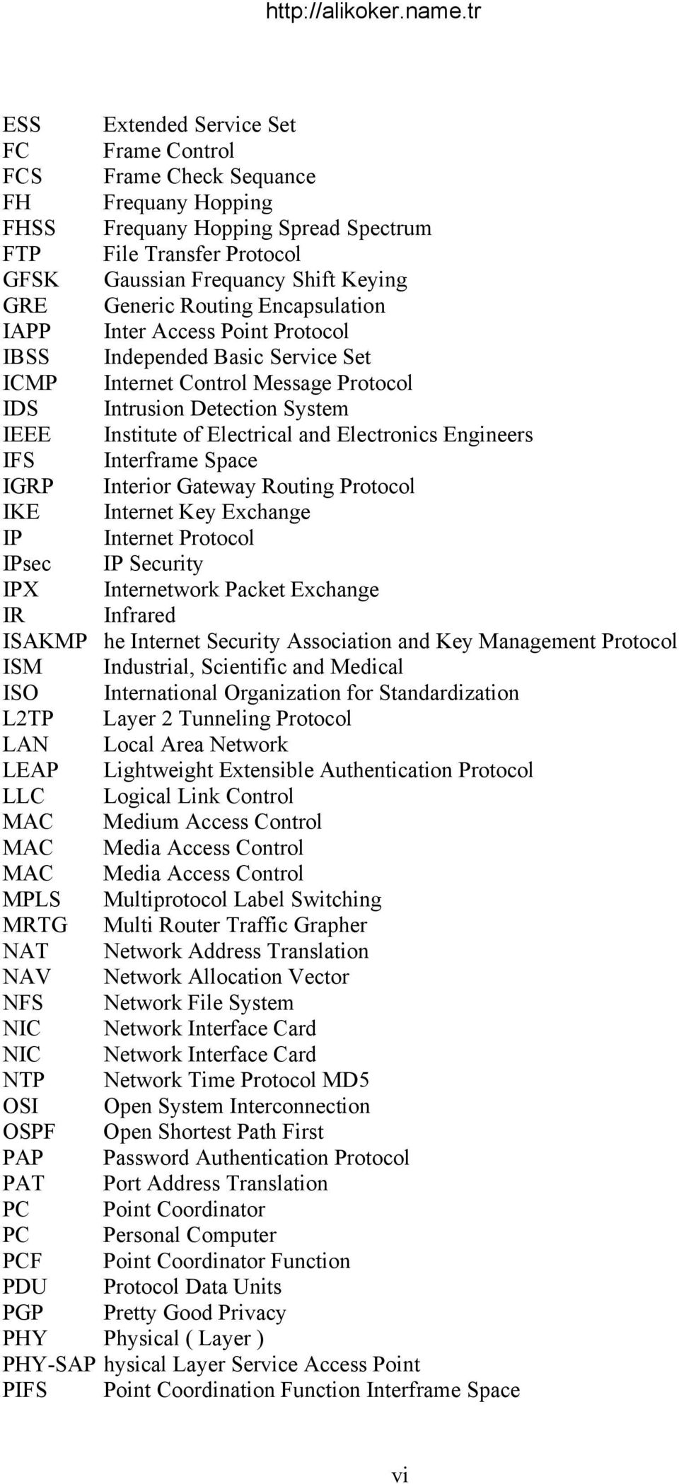 Electronics Engineers IFS Interframe Space IGRP Interior Gateway Routing Protocol IKE Internet Key Exchange IP Internet Protocol IPsec IP Security IPX Internetwork Packet Exchange IR Infrared ISAKMP