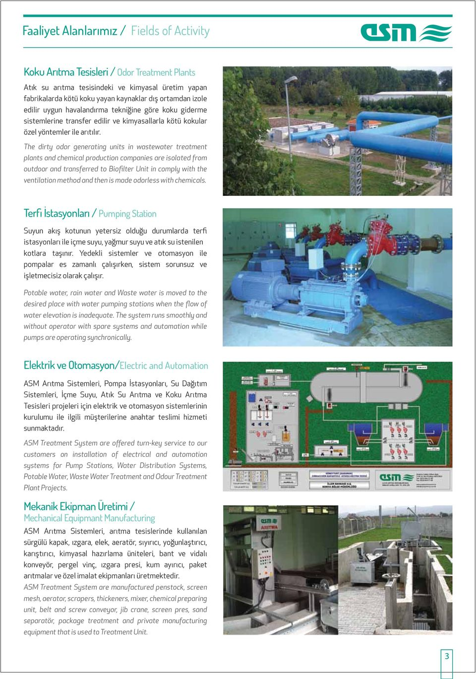 The dirty odor generating units in wastewater treatment plants and chemical production companies are isolated from outdoor and transferred to Biofilter Unit in comply with the ventilation method and