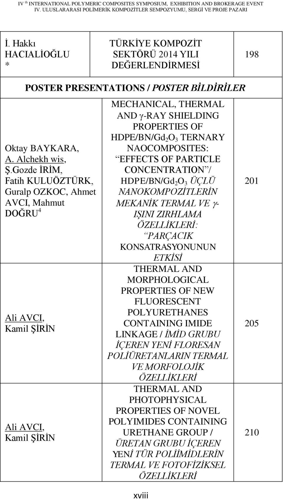 NAOCOMPOSITES: EFFECTS OF PARTICLE CONCENTRATION / HDPE/BN/Gd 2 O 3 ÜÇLÜ NANOKOMPOZĠTLERĠN MEKANĠK TERMAL VE - IġINI ZIRHLAMA ÖZELLĠKLERĠ: PARÇACIK KONSATRASYONUNUN ETKĠSĠ THERMAL AND MORPHOLOGICAL