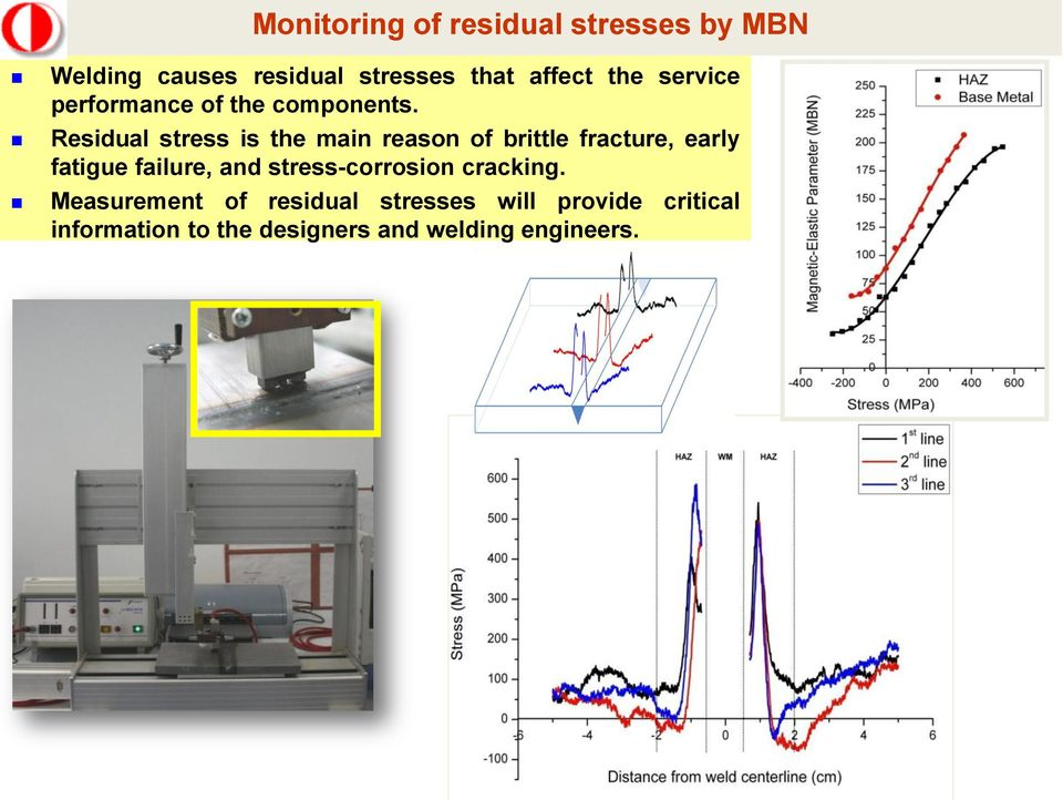 Residual stress is the main reason of brittle fracture, early fatigue failure, and
