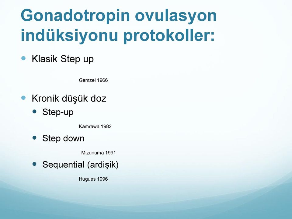 Kronik düşük doz Step-up Step down Kamrawa