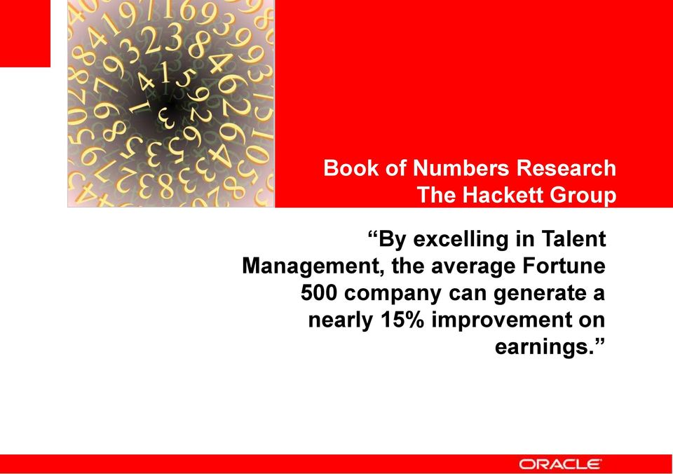 Talent Management, the average Fortune 500