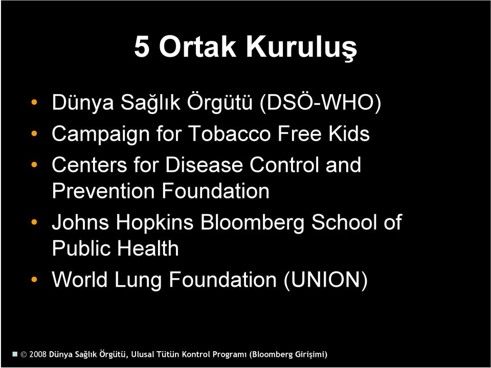 Control and Prevention Foundation Johns Hopkins