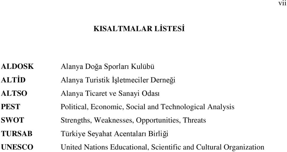 Economic, Social and Technological Analysis Strengths, Weaknesses, Opportunities, Threats
