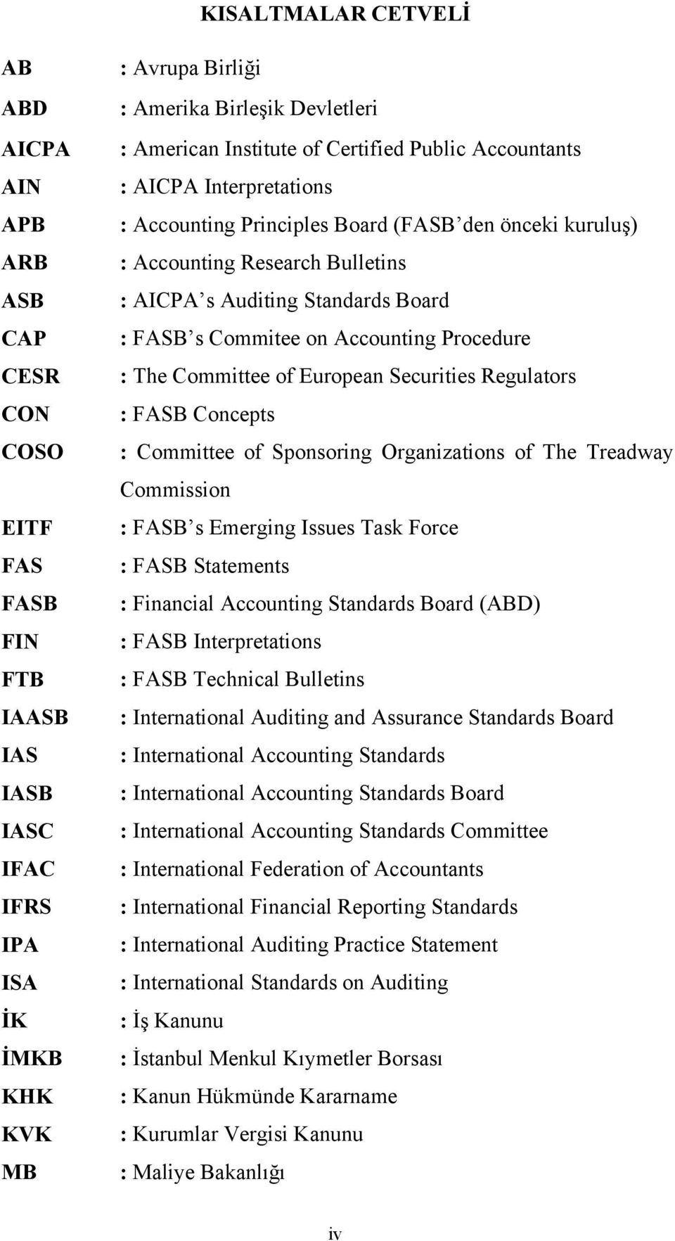 FASB s Commitee on Accounting Procedure : The Committee of European Securities Regulators : FASB Concepts : Committee of Sponsoring Organizations of The Treadway Commission : FASB s Emerging Issues