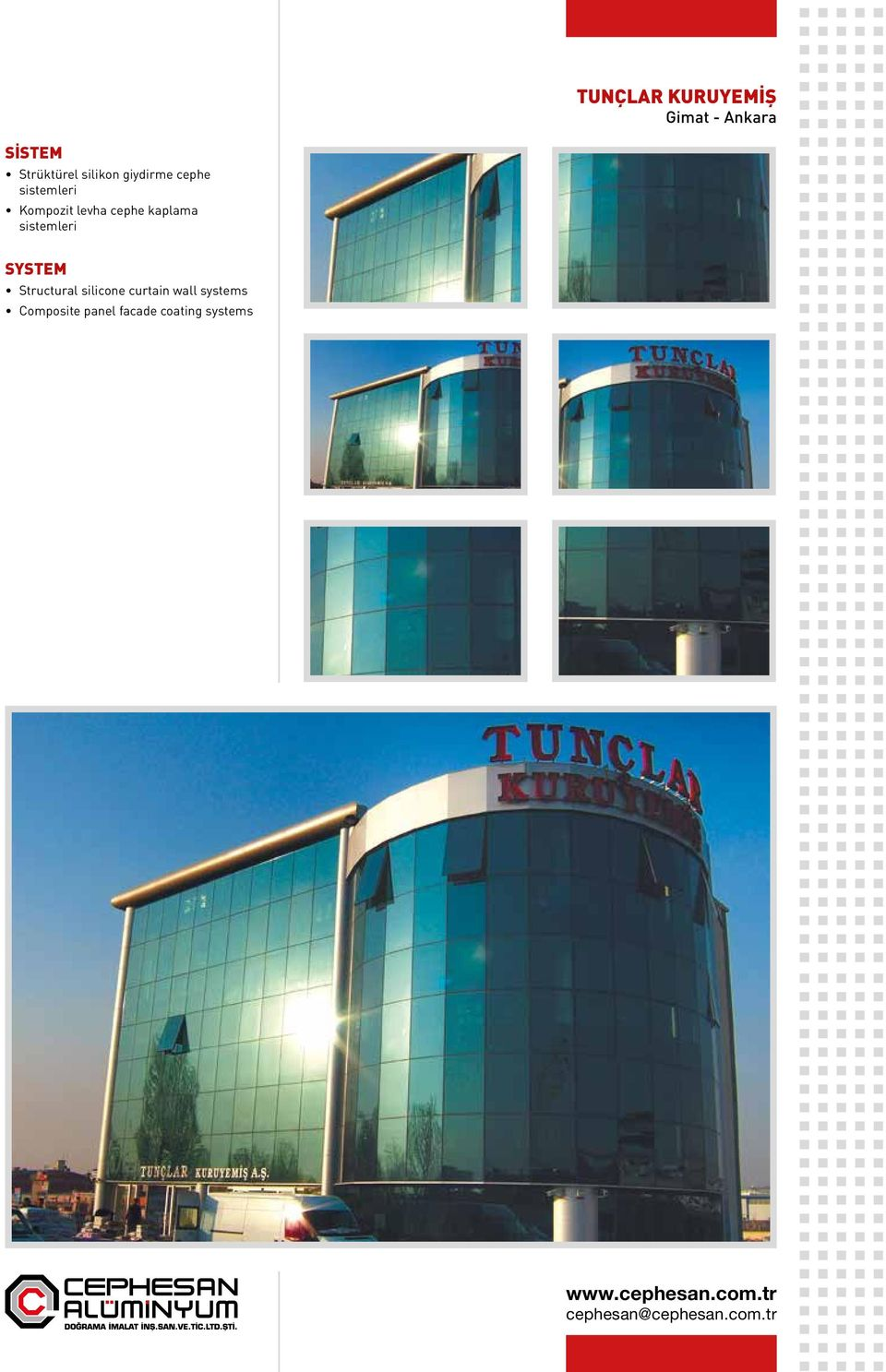 kaplama Structural silicone curtain wall
