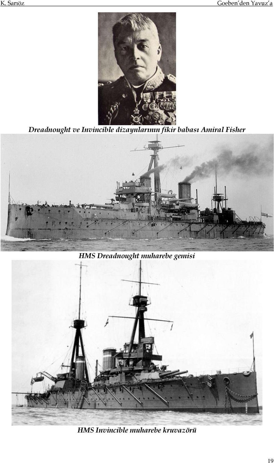Fisher HMS Dreadnought muharebe