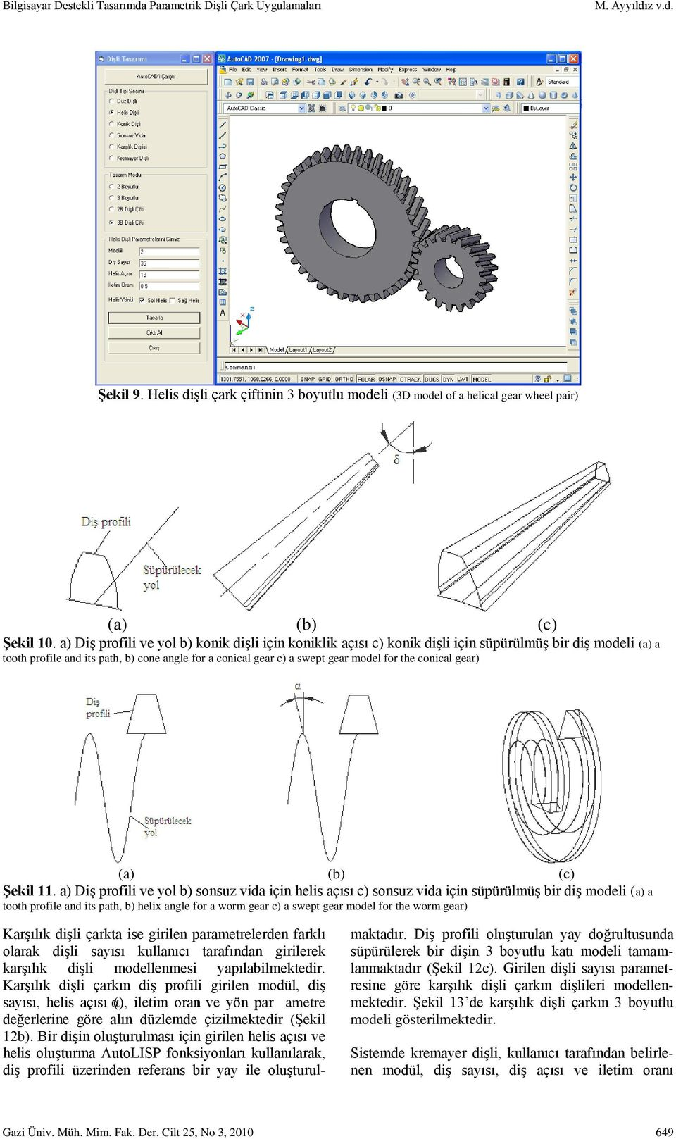 conical gear) (a) (b) (c) Şekil 11.