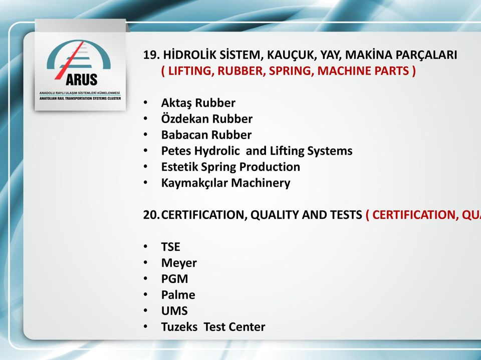 Lifting Systems Estetik Spring Production Kaymakçılar Machinery 20.