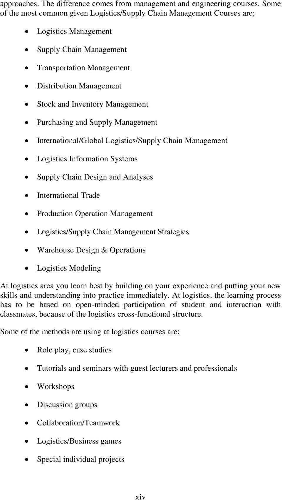 Management Purchasing and Supply Management International/Global Logistics/Supply Chain Management Logistics Information Systems Supply Chain Design and Analyses International Trade Production