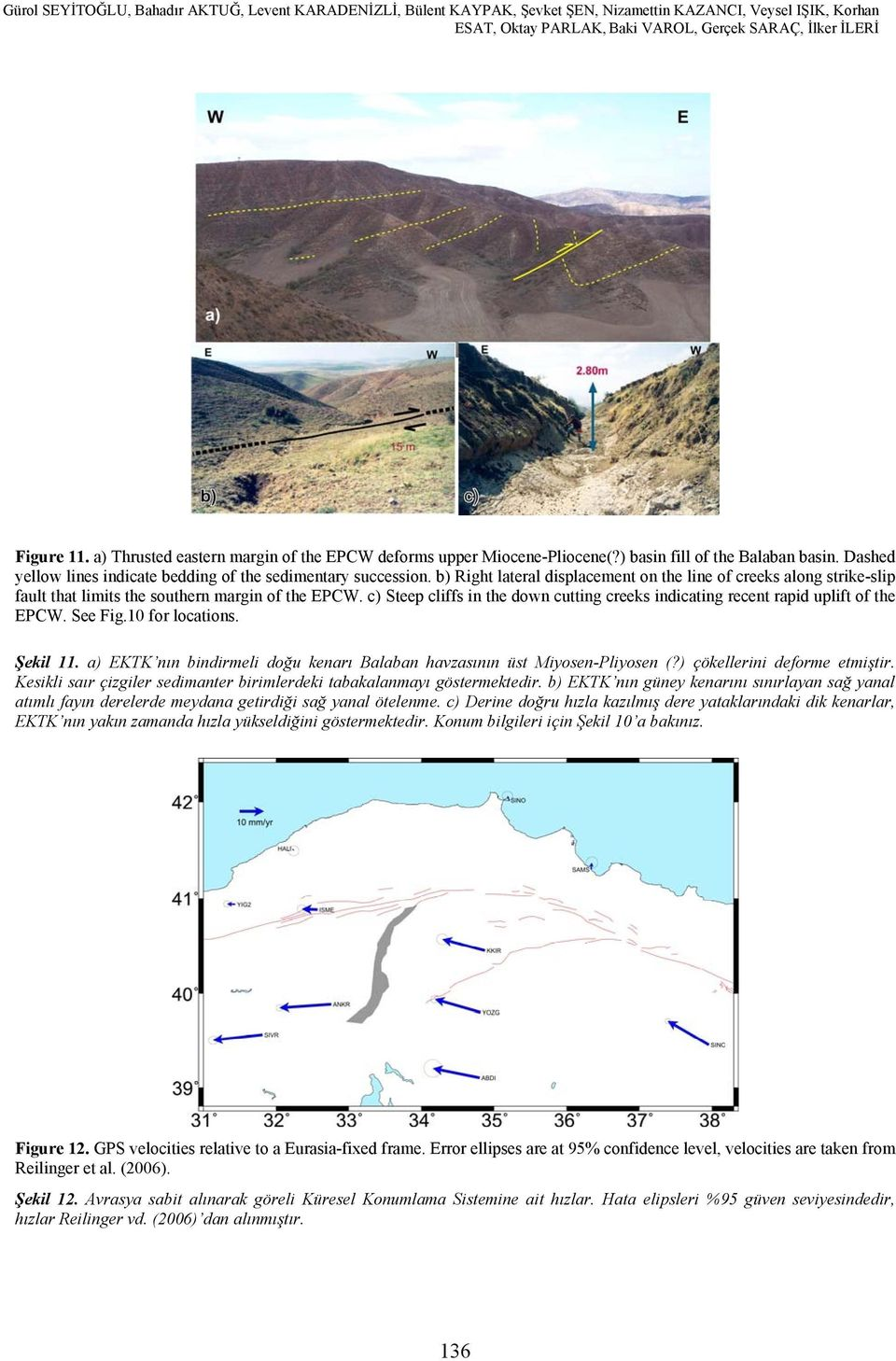 ) basin fill of the Balaban basin. Dashed yellow lines indicate bedding of the sedimentary succession.