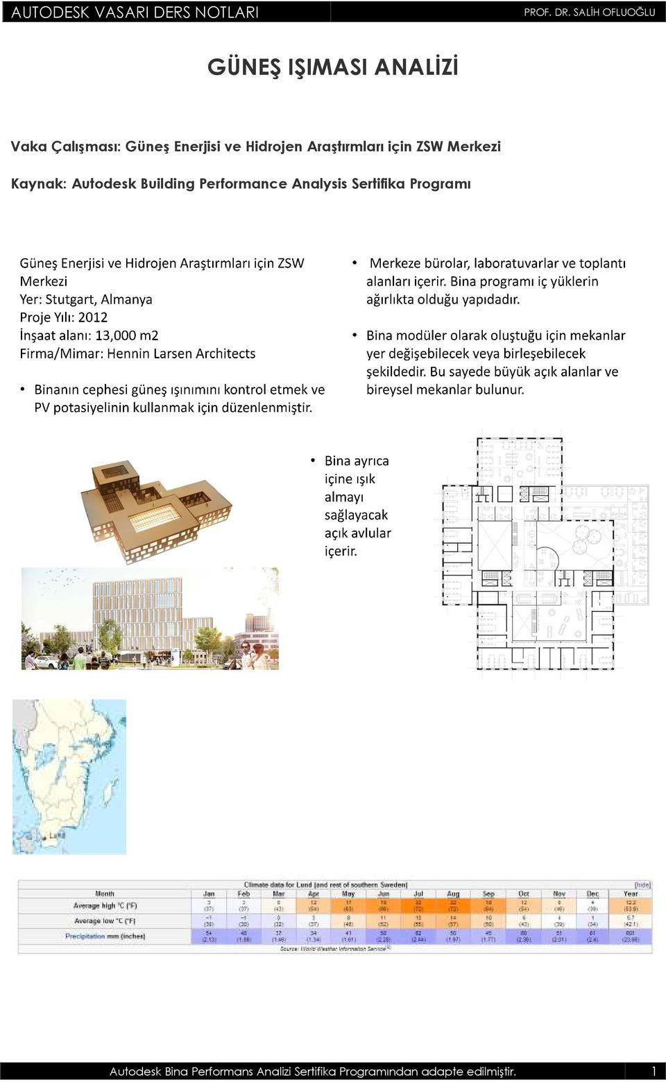 Autodesk Building Performance Analysis Sertifika Programı Autodesk