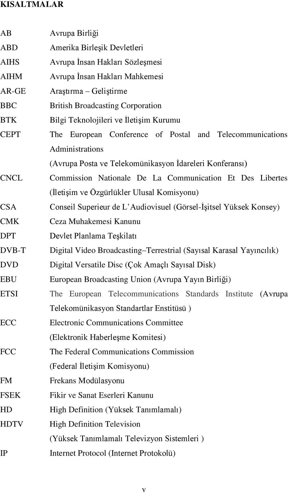 ve Telekomünikasyon İdareleri Konferansı) Commission Nationale De La Communication Et Des Libertes (İletişim ve Özgürlükler Ulusal Komisyonu) Conseil Superieur de L Audiovisuel (Görsel-İşitsel Yüksek