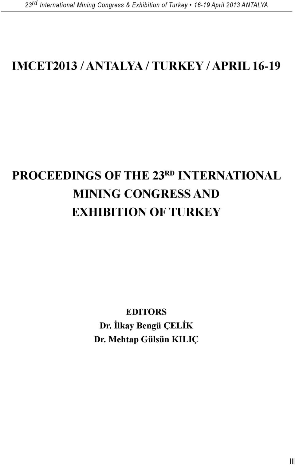 MINING CONGRESS AND EXHIBITION OF TURKEY