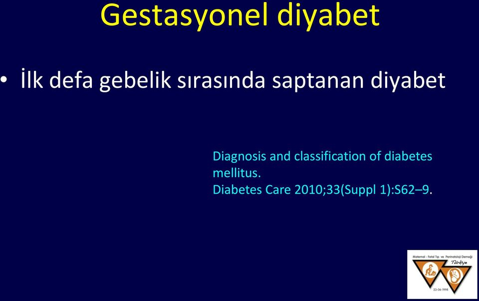and classification of diabetes