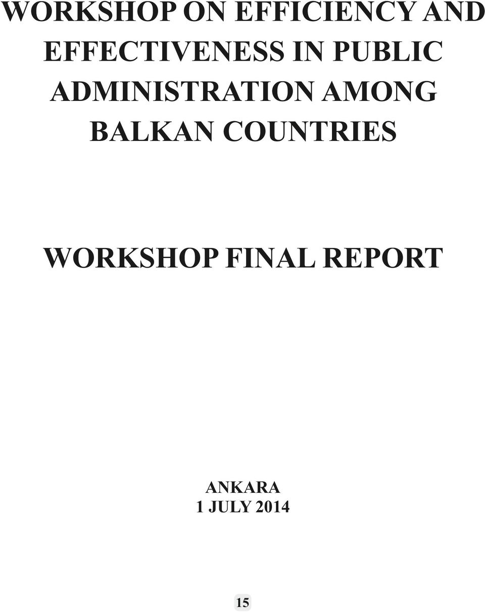 ADMINISTRATION AMONG BALKAN