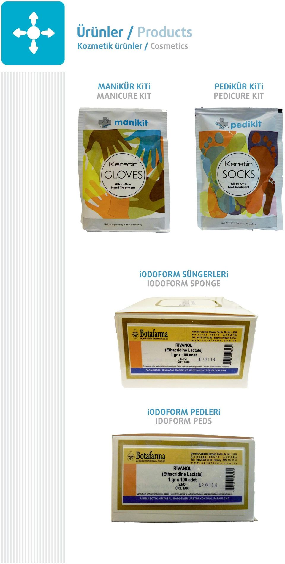 KÜR K T PEDICURE KIT iodoform SÜNGERLER