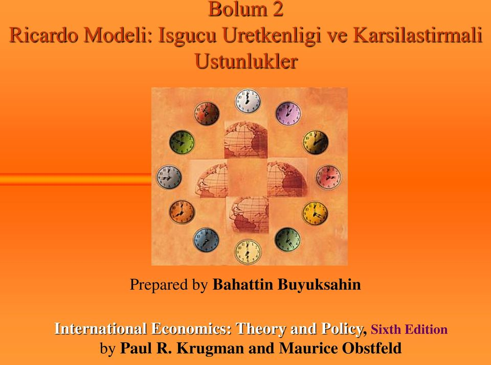 Buyuksahin International Economics: Theory and