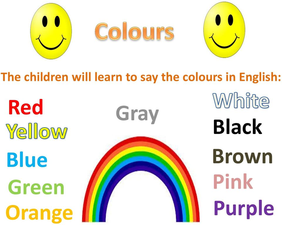 English: Red Blue Green