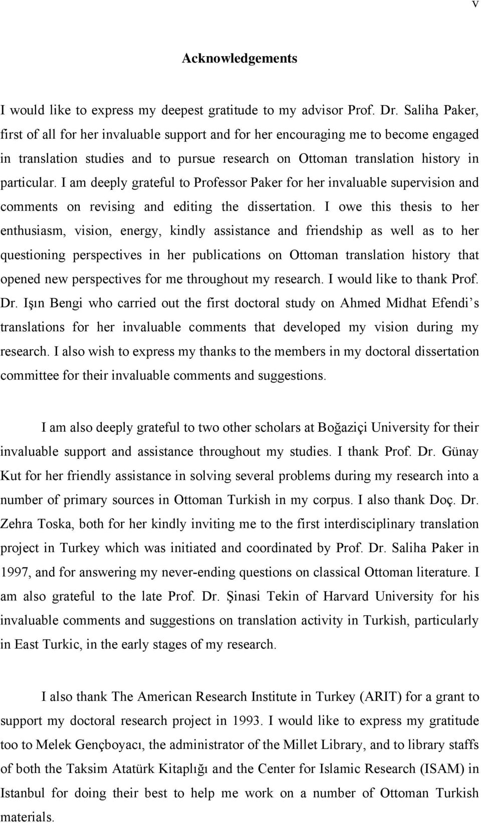 I am deeply grateful to Professor Paker for her invaluable supervision and comments on revising and editing the dissertation.