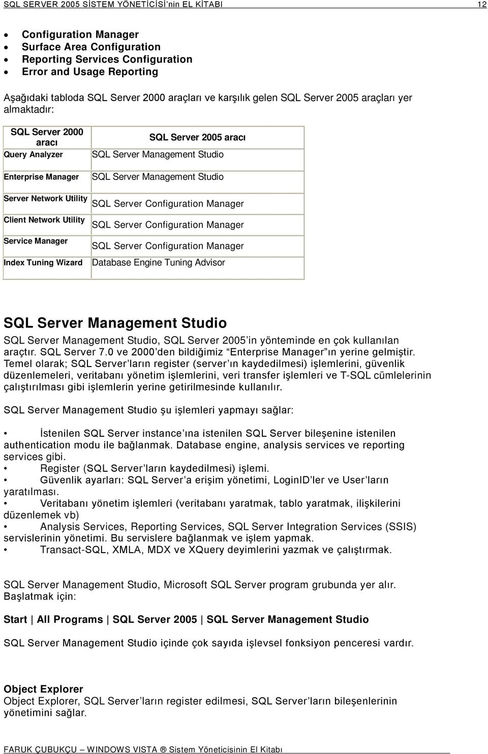 Studio Server Network Utility SQL Server Configuration Manager Client Network Utility Service Manager Index Tuning Wizard SQL Server Configuration Manager SQL Server Configuration Manager Database