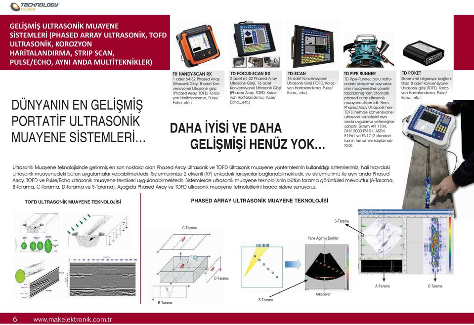 Haritalandırma, Pulse/ Echo,,etc.) 2 adet 64:32 Phased Array Ultrasonik Girişi, 16 adet Konvensiyonel Ultrasonik Girişi (Phased Array, TOFD, Korozyon Haritalandırma, Pulse/ Echo,,,etc.