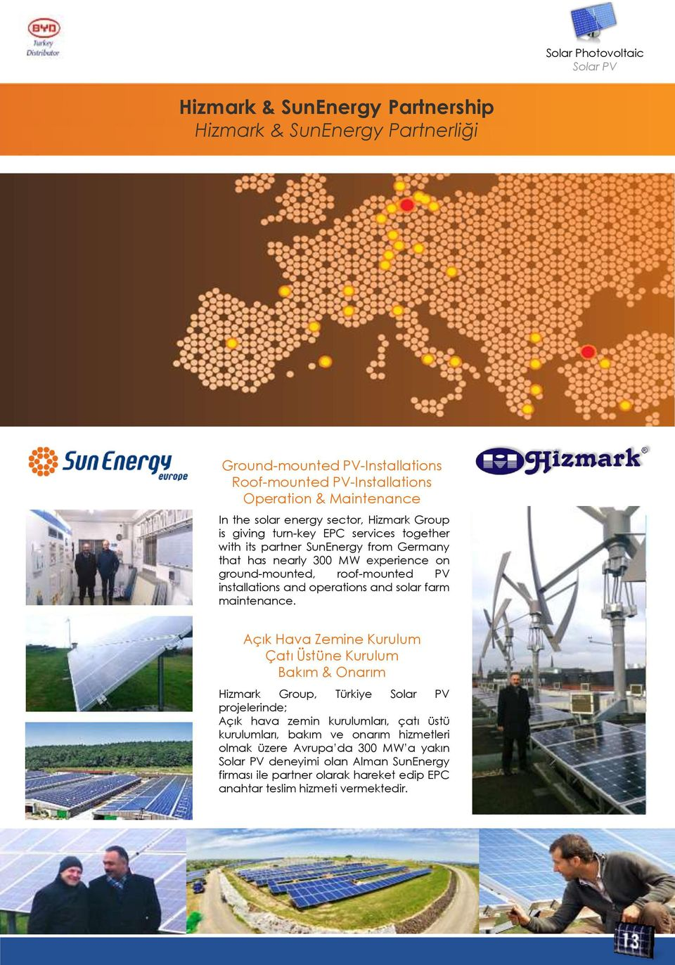 installations and operations and solar farm maintenance.
