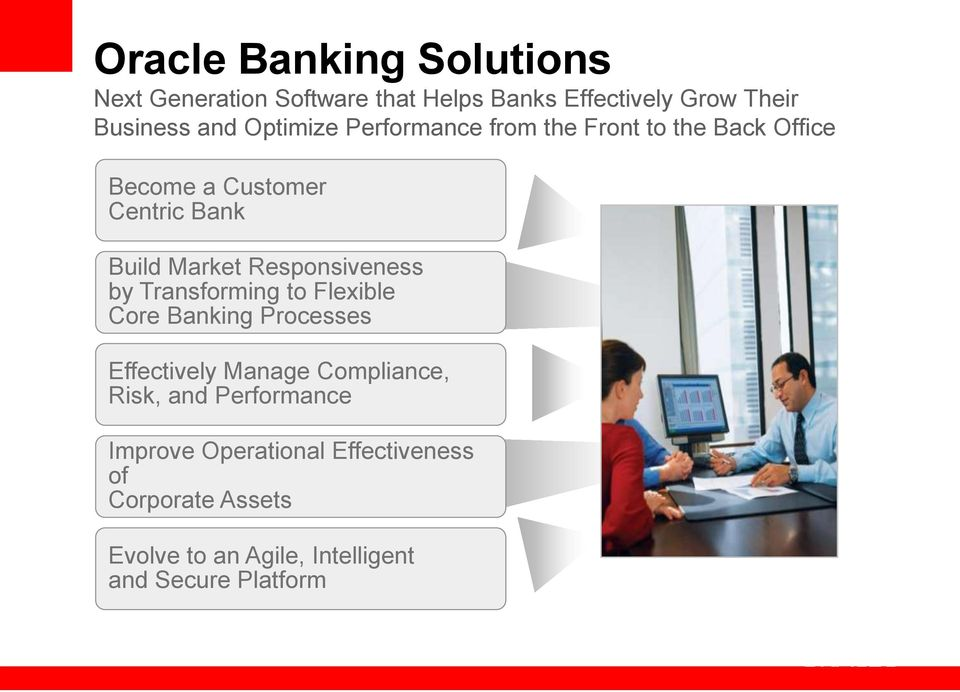 Responsiveness by Transforming to Flexible Core Banking Processes Effectively Manage Compliance, Risk, and