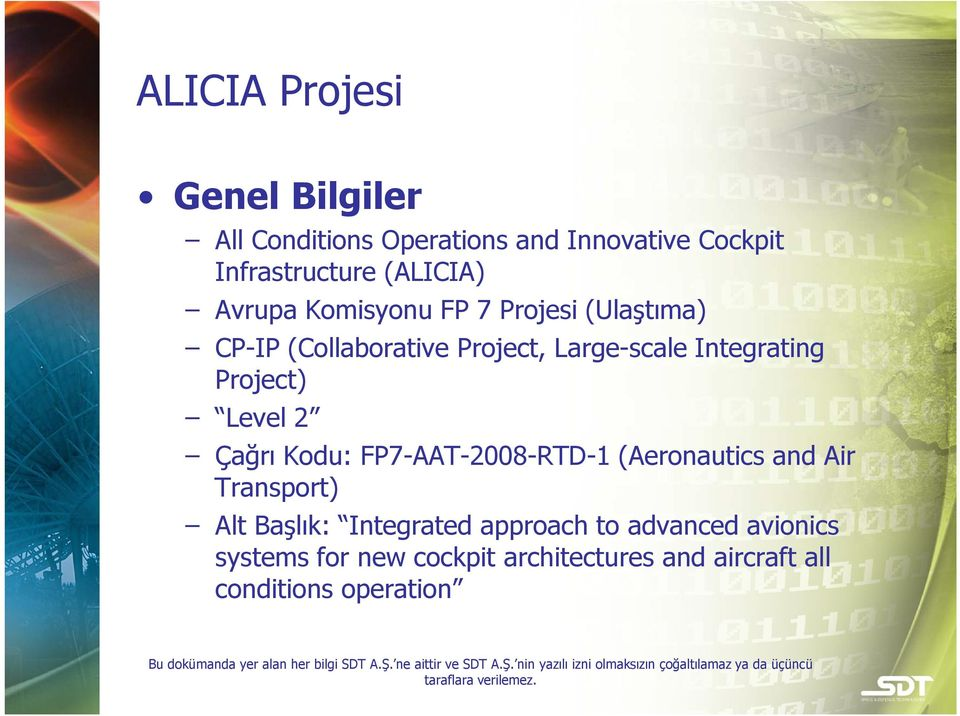 Integrating Project) Level 2 Çağrı Kodu: FP7-AAT-2008-RTD-1 (Aeronautics and Air Transport) Alt