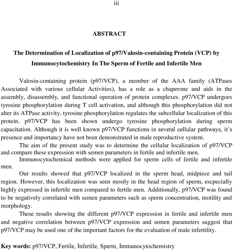 p97/vcp undergoes tyrosine phosphorylation during T cell activation, and although this phosphorylation did not alter its ATPase activity, tyrosine phosphorylation regulates the subcellular