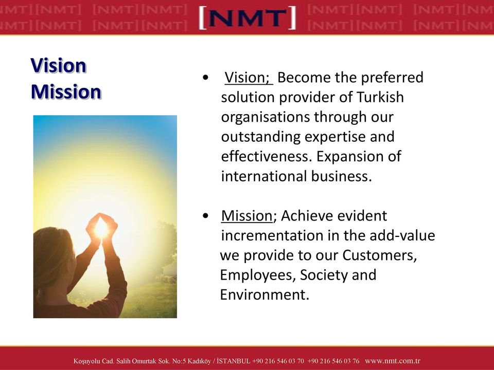 Expansion of international business.